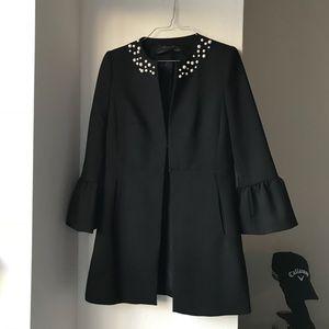 Zara faux pearl bell sleeve jacket